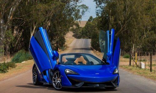 McLaren 570S spyder blue